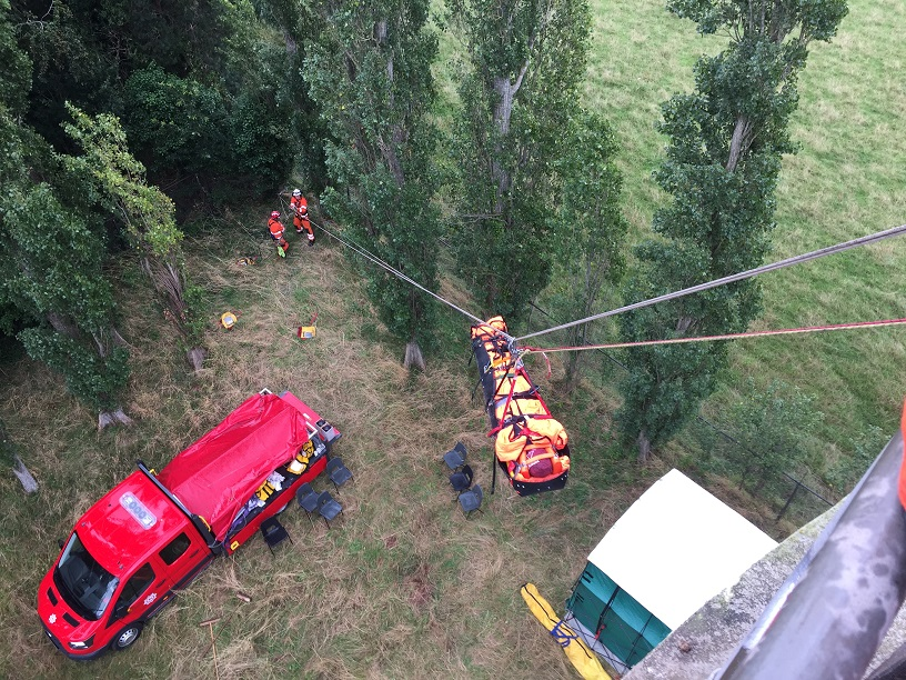 Dramatic rescues at water tower