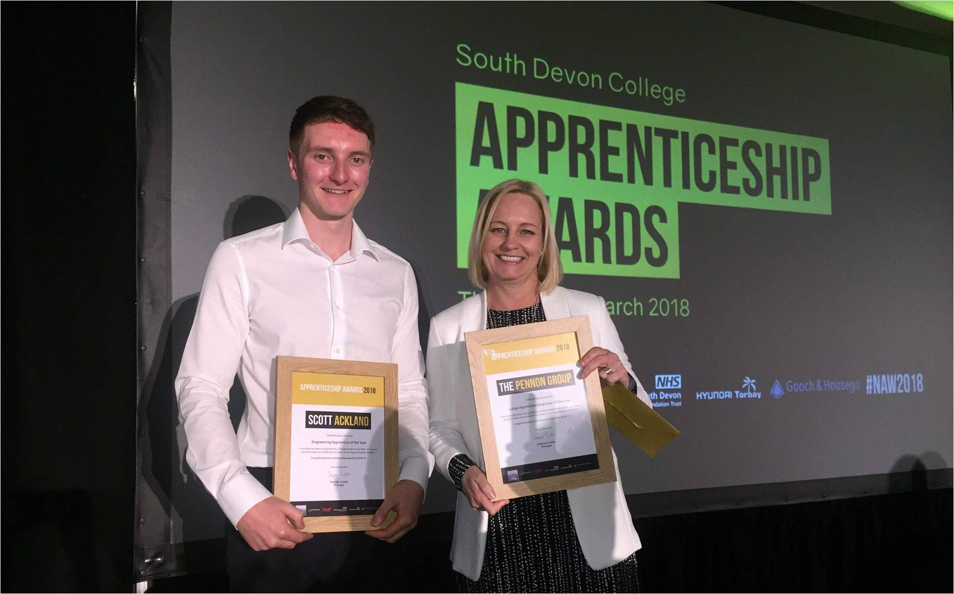 Double success for South West Water at apprenticeship awards