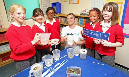 Seaton pupils get an A+ for H2O on World Water Day