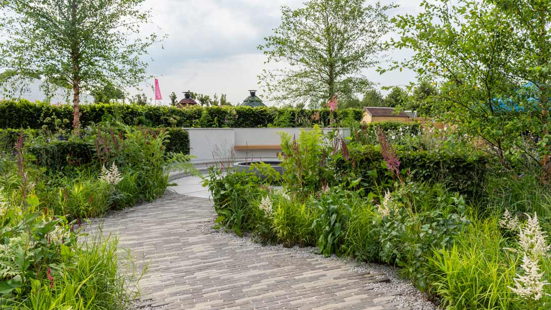 Gold award for sustainable rain garden