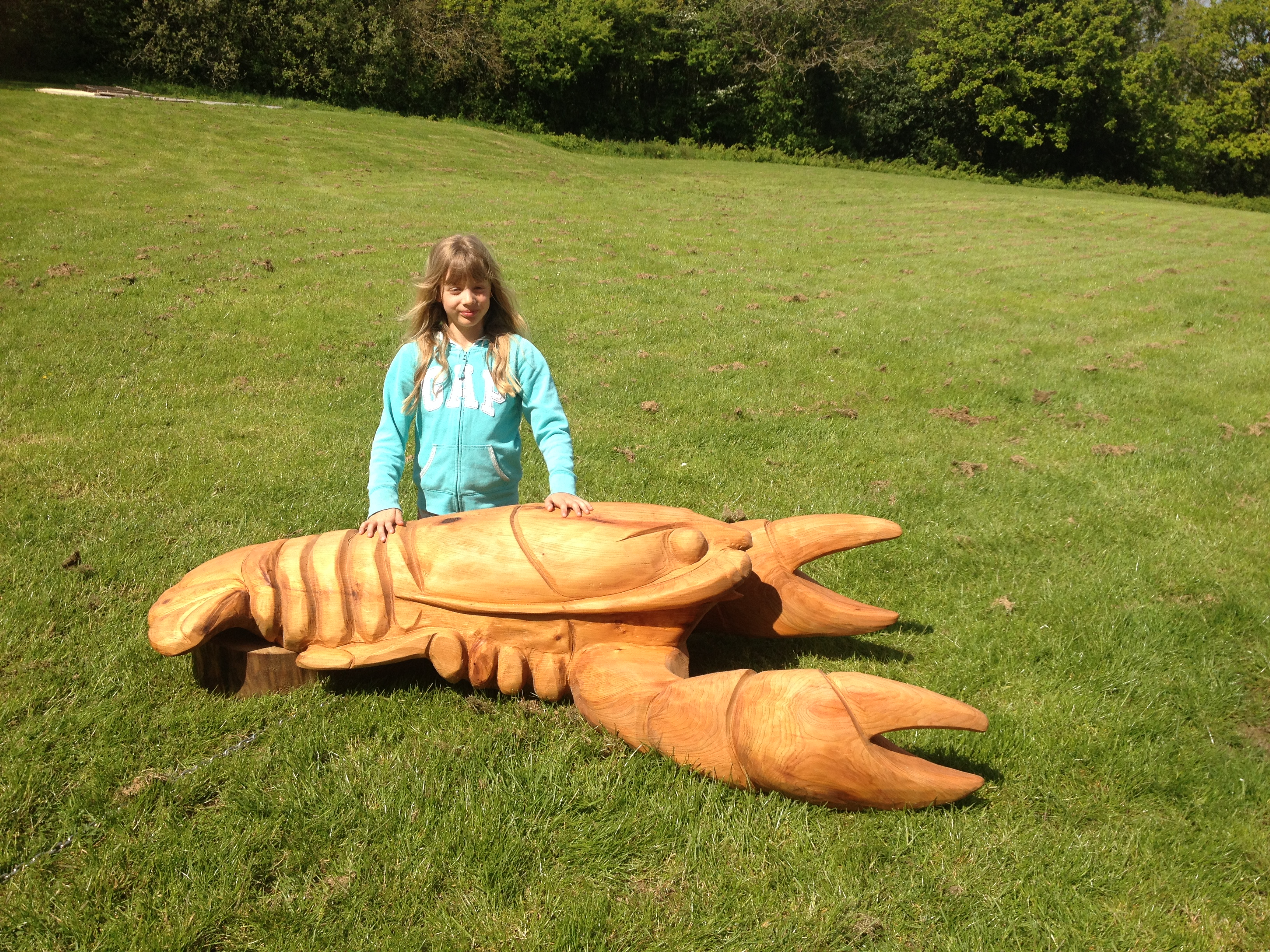 Giant crayfish sculpture installed at Roadford reservoir