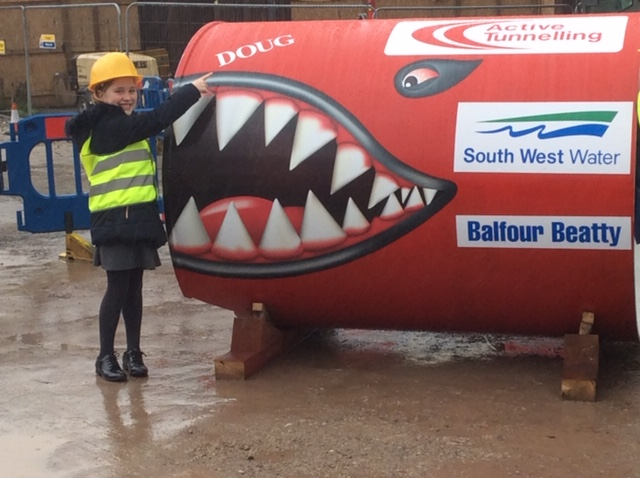 Meet Doug: The tunnelling dragon speeding up roadworks in Plymouth